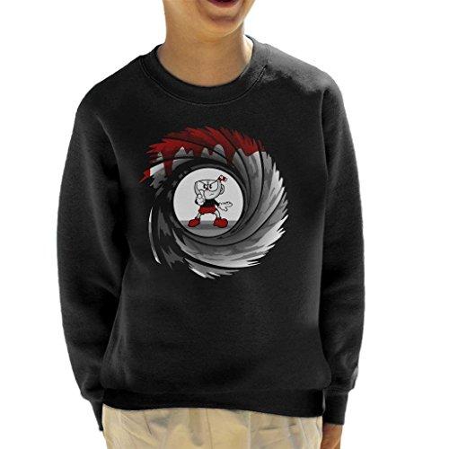 Cloud City 7 Cuphead Double 0 Cup Kid's Sweatshirt