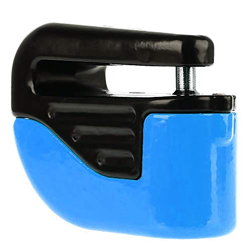 Tuzi Qiuge HWJ Fahrradverriegelung Diebstahlsicher Kleine Alarmsperre Scheibenbremsen (orange) QiuGe (Color : Blue)