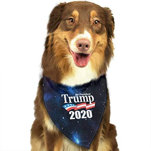 Sdltkhy Keep America Great President 2020 - Baberos clásicos con diseño de bandana y triángulo para mascotas