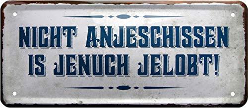 Plaque en tôle décorative 1165 Non anjelobt 28 x 12 cm
