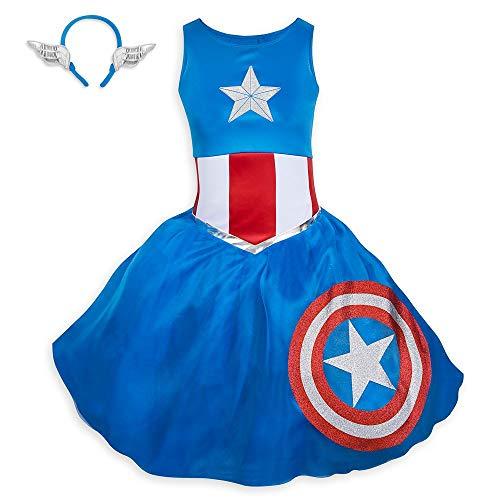Marvel Captain America Tutu Kleid Kostüm für Erwachsene - mehrfarbig - Damen Large