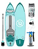 iROCKER Cruiser Inflatable Stand Up Paddle Board 10'6' Long 33' Wide 6' Thick SUP Package | Blue - 2019