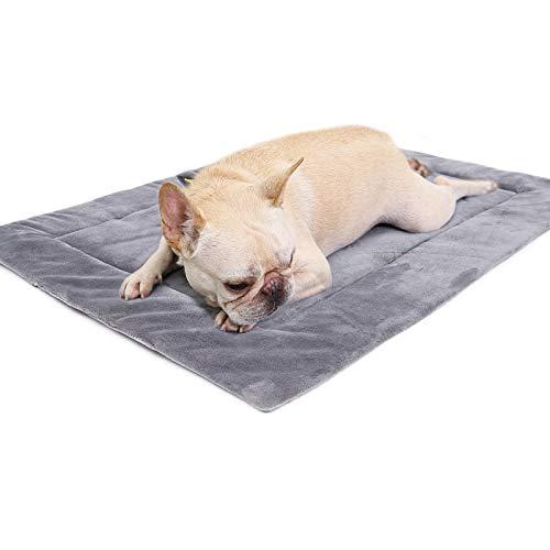 Souarts Haustier Bett Hundedecke Weich Haustiermatte Warm rutschfest Hundebett(Grau,XL 110 * 70CM)