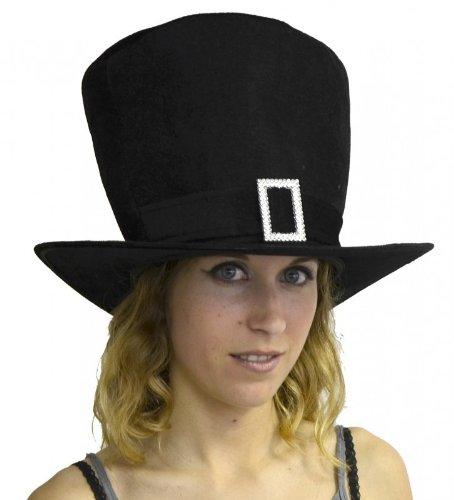 Chapeau Gothique Chic En Mousse 21Cm Avec Boucle Strass