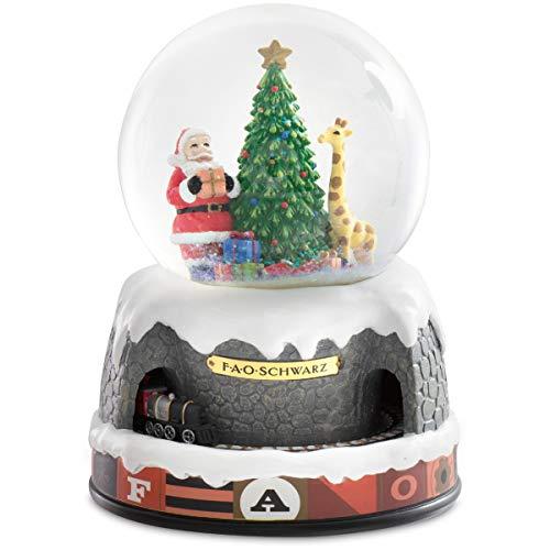 FAO Schwarz Holiday Snow Globe with Moving Train,...