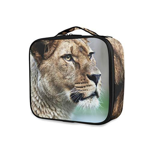 Voyage majestueux lionne nature sac à main outils de rangement sac de train cosmétique trousse de toilette portable sac de maquillage