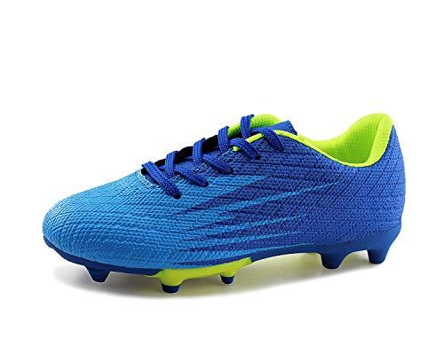 JABASIC Kinder Soccer Boots Jungen Mädchen Sportlich Draussen Fußballschuh (28,Blau)
