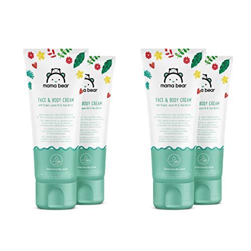 Mama Bear Crema para Bebés con Aceite de Jojoba y Manteca de Karité Ecológicos - Paquete de 4 tubos x100ml - Total: 400 ml
