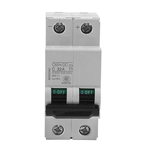 Interruptor de energía solar de baja tensión 1pc 2 poste interruptor de circuito miniatura para sistemas de CC industriales (32A)
