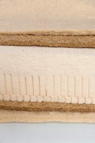 Asa Matratzen Cáñamo Natural Colchón I: 2Capas de Oveja, 500g/2Capas de cáñamo 1.750g/100% Látex Natural 16cm 85kg/Funda es Bio algodón de Cultivo ecológico y con 500g² Oveja climatizada