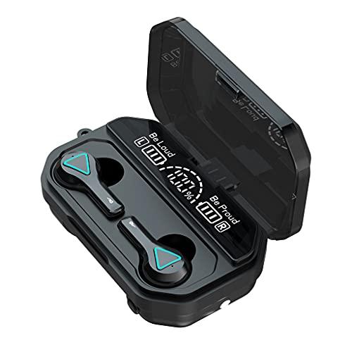 QTJUST - Cuffie professionali da gioco con Bluetooth, compatibili con Bluetooth, con auricolari stereo e bassi consumi energetici