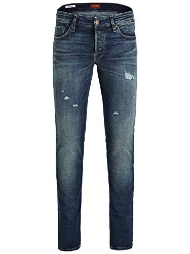 JACK & JONES Male Slim Fit Jeans Glenn ICON JOS 424 50SPS 3430Blue Denim