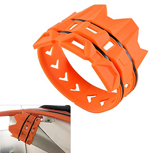Nicecnc Orange Exhaust Muffler Tailpipe Cover Guard Protector compatible with Exhaust Pipe Protector KTM ALL 50cc-530cc 2004-2018,SX SXF EXC XCW XC-W EXC-F Dirt Bike Motorcross