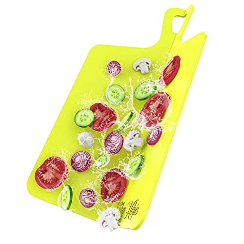 Kitchen Helpis® Tabla de Cortar Grande y Plegable, 39,5 x 26 cm, Tabla de Cortar, Tabla de Cortar Plegable, Tabla de Cortar de plástico, Tabla de Cocina, Tabla de Cortar Plegable