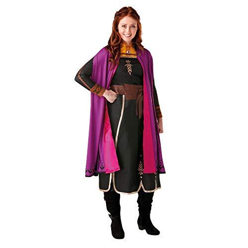 Rubies - Disfraz oficial de Disney Frozen 2, vestido de lujo de Anna, para adultos, talla mediana, para mujer