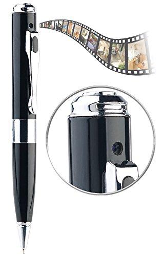 Somikon Spycampen: HD-Kamera im Kugelschreiber mit Infrarot-Nachtsicht, SD-Aufnahme, Akku (Spion Kugelschreiber)