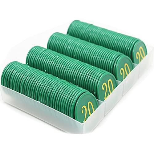 YYHJ Professionali Set di fiches da Gioco Poker,160 Pezzi/Scatola Fiches da Poker digitali educativi per Famiglie contare i marcatori matematici Imparare Le fiches da Poker