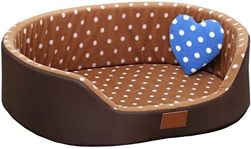 UIZSDIUZ Haustierbett Hundebett Haustier, for kleine bis mittlere Hunde und Katzen, Haustier Sofa Katzen Nicht Beleg Bottom Pet Lounger, Katzenbett (Color : Style1, Size : L(60×50×18cm/10kg))