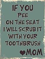 あなたがシートの上でのんびりするならば、私はあなたの歯ブラシおかしい金属サインインチでそれを洗浄します