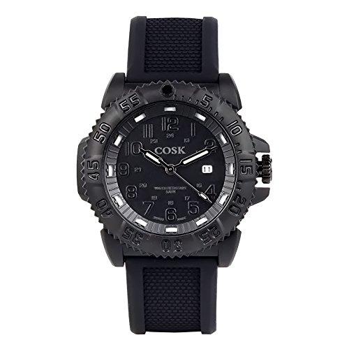 COSK Black Waterproof Evo Navy Seal Blackout Mens Women Kids Sport Watch 3051. Army Watches