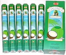 Coco–Varillas de incienso (6paquetes = 120unidades) con soporte de bastón por ley Effectz