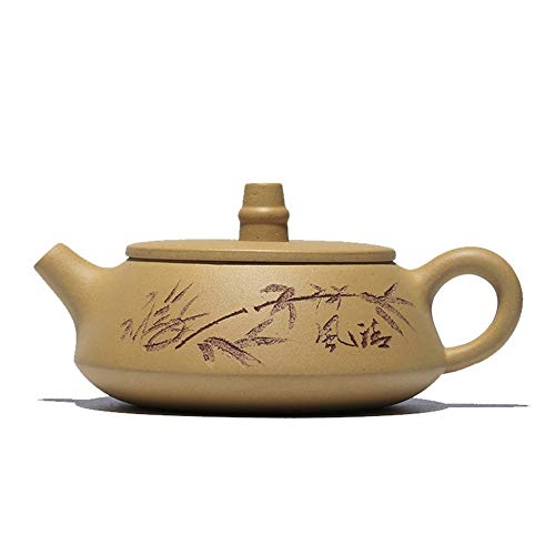 HuiLai Zhang geschenk handgemaakte gele thee segment minerale theepot bries modder