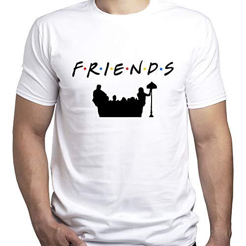 EUGINE DREAM Friends Couch Silhouette Friends TV Series T-Shirt Uomo Bianco XL
