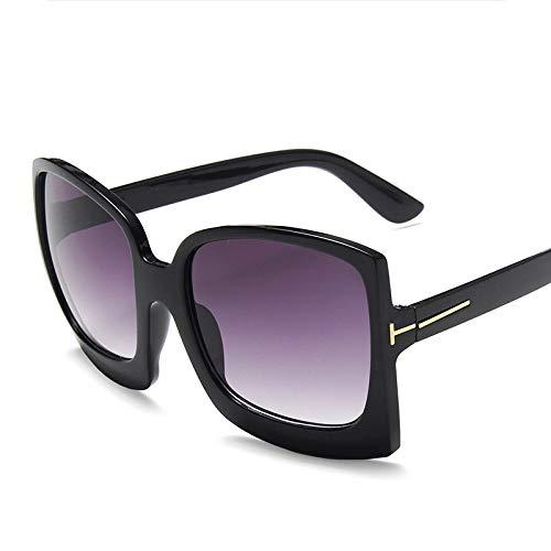 Sonnenbrille Für Damen Herren,Klassische Sonnenbrille Farben Vintage Retro Fashion Schwarz/Grau Big Frame Sonnenbrillen Sonnenbrillen Streetshot Catwalk Gläser Uv-Schutz Sonnenbrille Am Strand