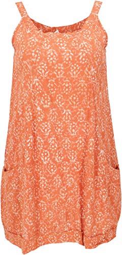 Guru-Shop Boho Minikleid, Sommertunika, Hängerchen, Damen, Orange, Baumwolle, Size:M (38), Kurze Kleider Alternative Bekleidung
