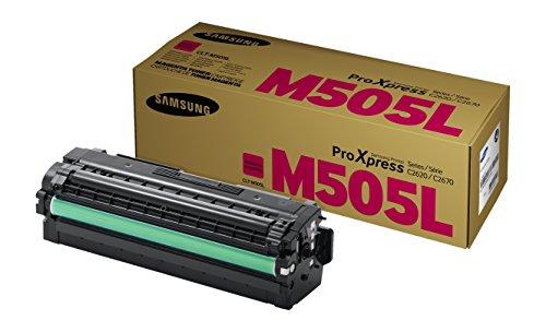 Samsung CLT-M505L/ELS Original Toner (Kompatibel mit: SL-C2620DW/C2670FW/C2680FX) magenta