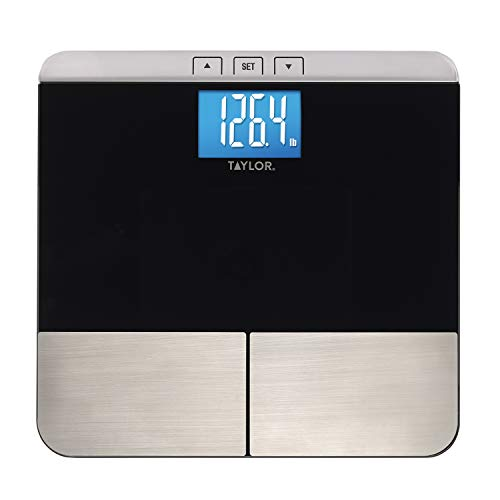 Taylor Precision Products Taylor Body Composition Scale Measuring Body Fat, Body Water, Muscle Mass and Bmi, Black