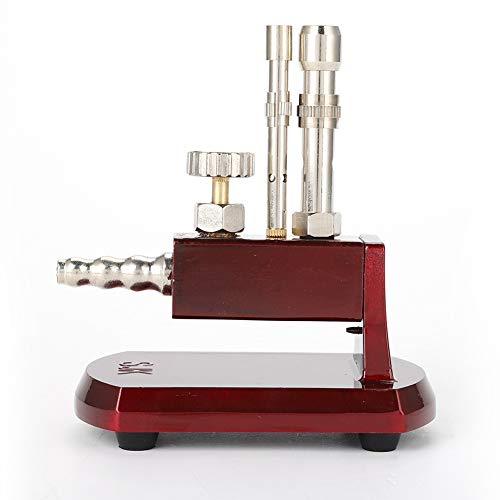 riuty Micro Bunsen Combustor, Flüssigpropan Micro Bunsen Combustor Doppelrohr-drehbare Gas-Propan-Leuchte Drehbare Laborgeräte