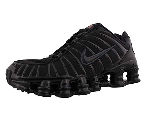 Nike Shox TL, Scarpe da Corsa Uomo, Black/Black-Mtlc Hematite-Max Orange, 43 EU