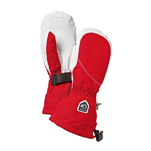 Hestra Heli Ski Damen Ski-Fäustling in rot/Off Weiß 5(XS), rot/aus weiß