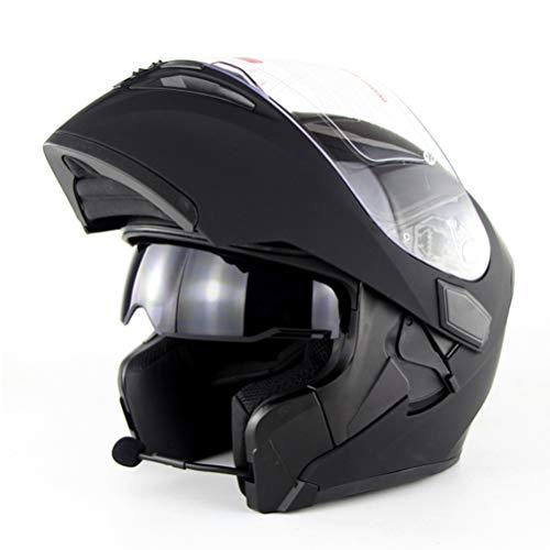 Casco Bluetooth para motocicleta Flip Up Motocicleta Kask Bt Casco Moto Viseras dobles Casque Motor Bike Capacete Dot Flip Helmet con Bluetooth