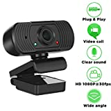 1080P HD Webcam with Microphone, Video Streaming Web Camera - USB Computer Camera for PC Laptop Desktop Video Meeting Calling Conferencing, External Webcam, Skype Cam