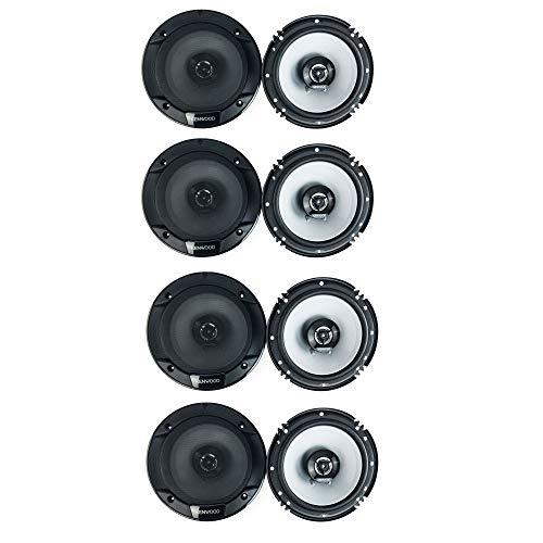 Kenwood 300 Watt 6.5-Inch Coaxial 2 Way Car Audio Speaker (1 Pair) (4 Pack)