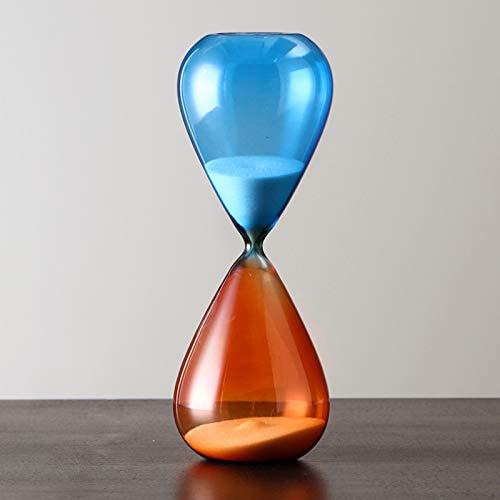 ZHXY Reloj Arena Temporizador,Hourglass,Reloj de Arena de Colores de Cristal para la decoración del hogar,Aula Cocina Juegos Decoración Oficina Juego Sand-Timer Minutero Temporizadores.