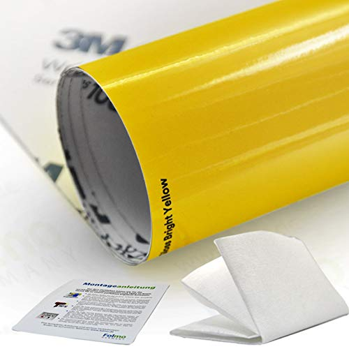 3/M 1080/Scotch Print Wrap Film Schermo Pellicola Lucida professionale auto Wrap Scotch Print Wrap Film larghezza 152/cm senza bolle con canali di ventilazione RAPID teck/® feltro racla