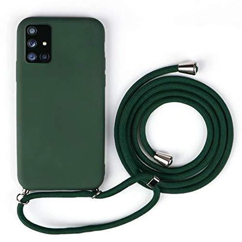 JMstore Funda Compatible con iPhone 5/5S/SE Silicona Líquida con Colgante/Cadena.Protectora ponible Cordón Cruzado Correa Cuello Cordón