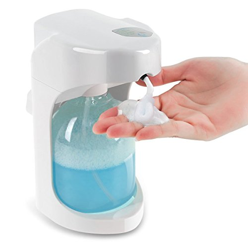 Lantoo Foaming Automatic Soap Dispenser, Hands Free Automatic Foam Soap Dispenser for Bathroom & Kitchen, 16oz Capacity, Adjustable Foam Control, Wall Mounted/On Countertop