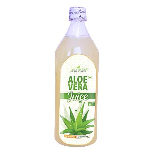 Neuherbs Aloe Vera Juice with Fiber and No Added Sugar 1 LTR Bottle