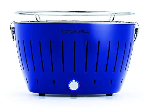LotusGrill Ultramarinblau mit USB-Anschluß Sonderfarbe Limited Edition. Der raucharme Holzkohlegrill/Tischgrill. Die neueste Technik - Robuster, langlebiger Edelstahlkohlebehälter