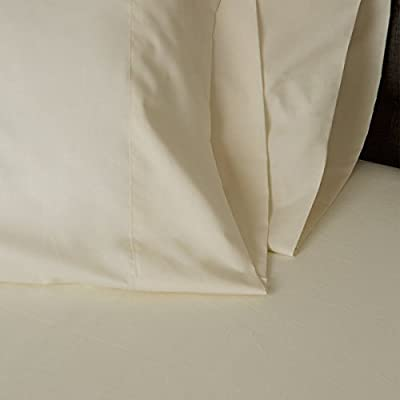 American Made 100% Cool Flow Cotton Memory Foam Fitted Sheet Set - Soft Ivory