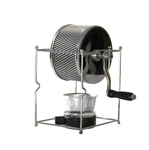 LKNJLL Mini Máquina de tostado de granos de café Manual DIY Rodillos de acero inoxidable de bricolaje con asa, máquina de asado de roller de acero inoxidable pequeño, frijol de café panadero de café t