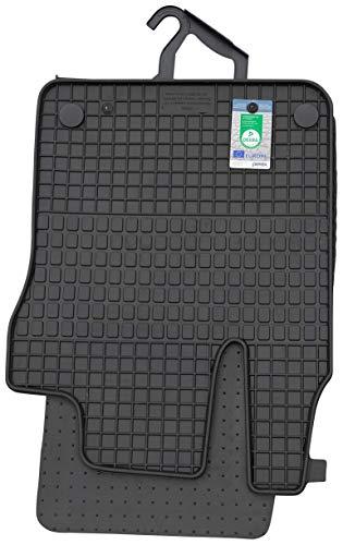 PETEX Gummimatten passend für forfour ab 11/2014 Fußmatten schwarz 4-teilig