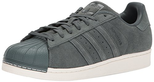 adidas Originals Men's Superstar Sneaker, Green Night/Green Night/Green Night, 8