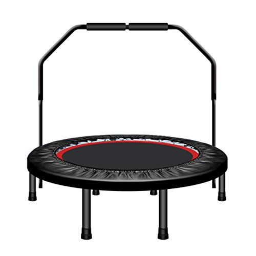 HYM Foldable Fitness Trampoline, Indoor Trampoline Backboard-40 Inches With Stabilizer Bar Jumping Fitness Weight Loss Exercise