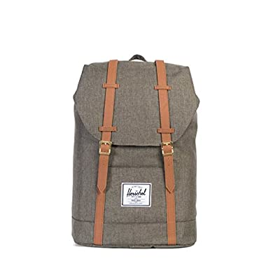 Herschel Supply Co. Retreat Backpack, Canteen Crosshatch/Tan Synthetic Leather