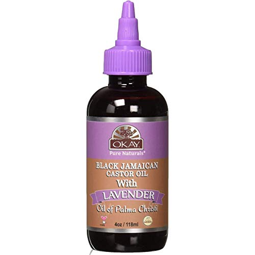 OKAY - Black Jamaican Castor Oil with Lavender - For All Hair Types - Grow Strong Healthy Hair - Calming Scent - 100% Pure - 4 oz